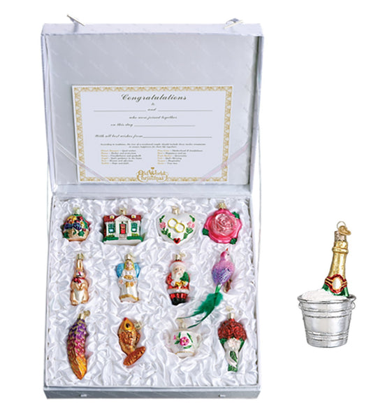 The Champagne Edition: Old World Christmas Bride's Collection Ornament Box Set with Bonus Champagne Bucket-Home-Old World Christmas-Prince of Scots