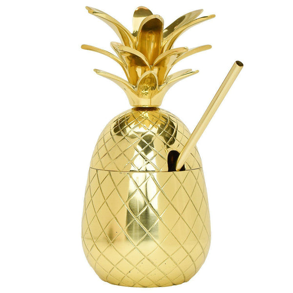 The Royal Hawaiian Pineapple Tumbler (27 Ounce)-Home Gifts-Prince of Scots-810032751760-PineGold9-Prince of Scots