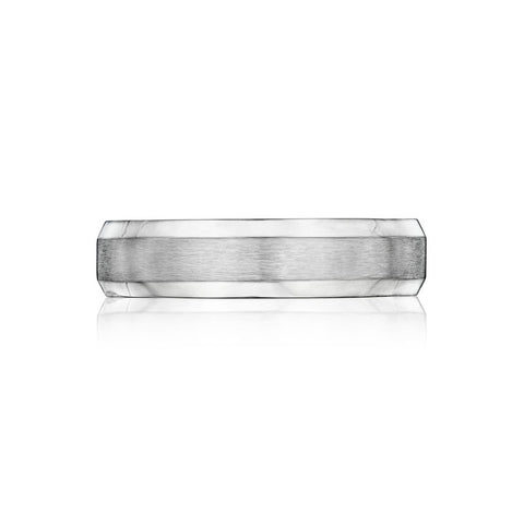 14kt White Gold Comfort Fit Wedding Band 5mm