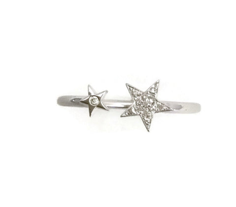 Open Diamond Star Ring in 14kt White Gold