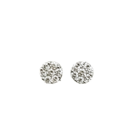 White Gold Illusion Diamond Stud Earrings 1.10cts tw