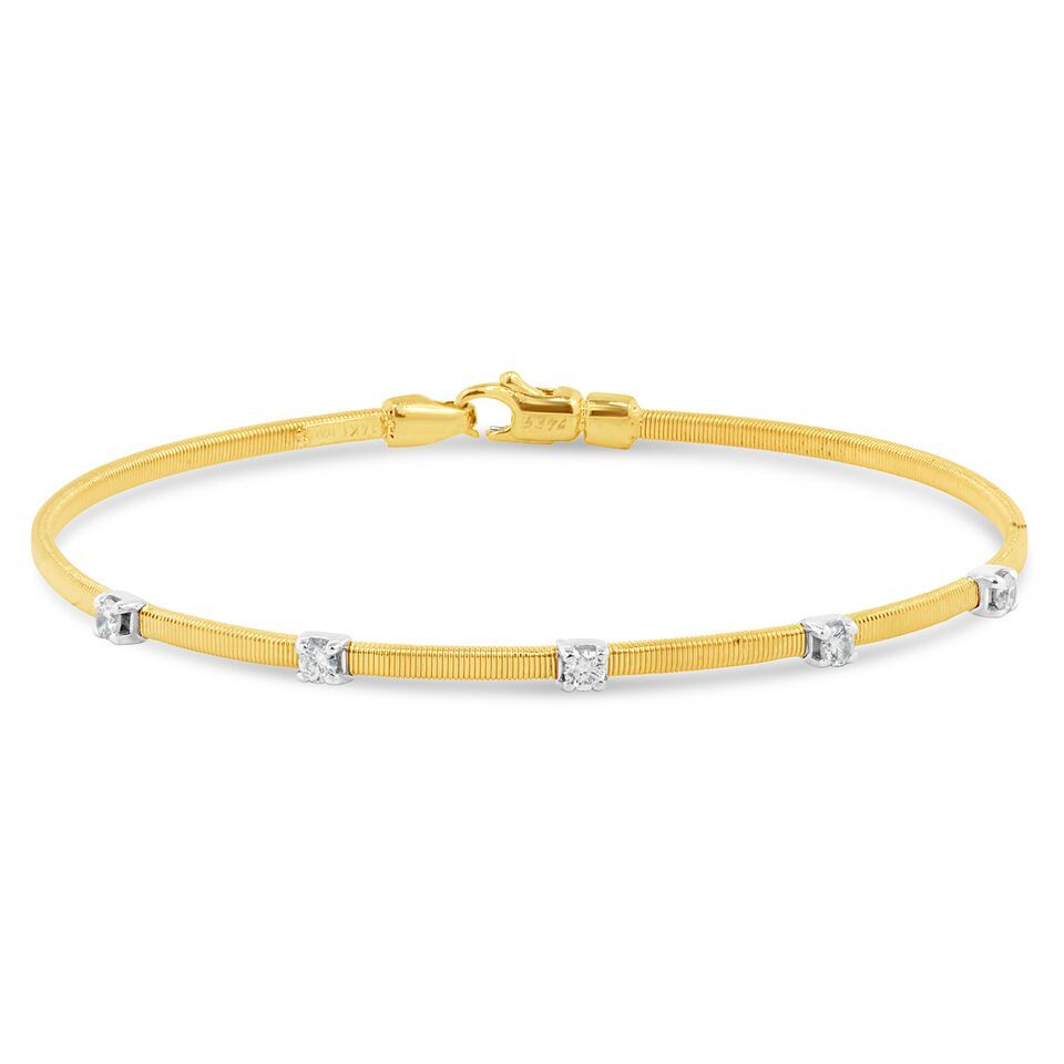tw zirconia gold diamond yellow cubic bracelet plated with sterling ct bangle silver p in