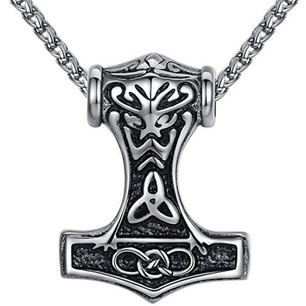 Stainless Steel Thor's Hammer Pendant Necklace (FREE SHIPPING)