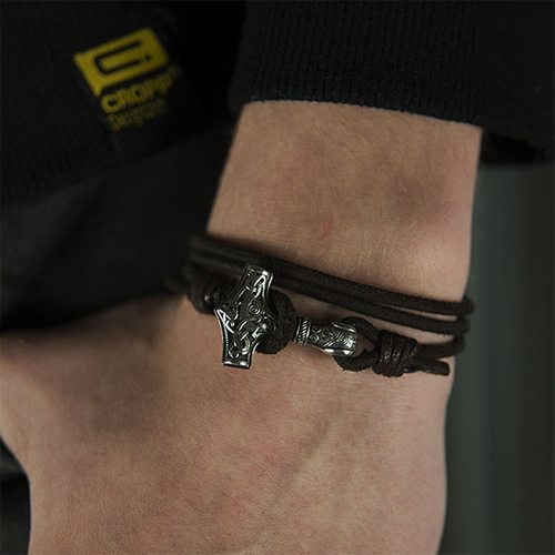 Bracelet - Genuine Leather Mjolnir Bracelet(FREE SHIPPING)