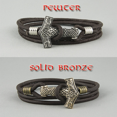 Genuine Leather Mjolnir Bracelet(FREE SHIPPING)