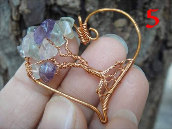 Pendant - Handcrafted Heart Shaped Yggdrasil Pendant (FREE SHIPPING)