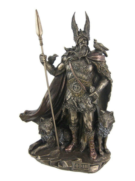 Statues And Figurines - Odin The Allfather Bronze Finish Statue (FREE SHIPPING)