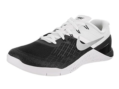 New Men's Nike Metcon 3 Cross Training Sneaker (11, Black/White/Metallic Silver)