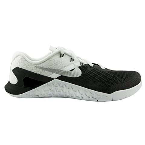 New Men's Nike Metcon 3 Cross Training Sneaker (9, Black/White/Metallic Silver)