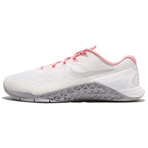 Nike Women's Metcon 3 White/Metallic Silver Training Shoe 6 Women US