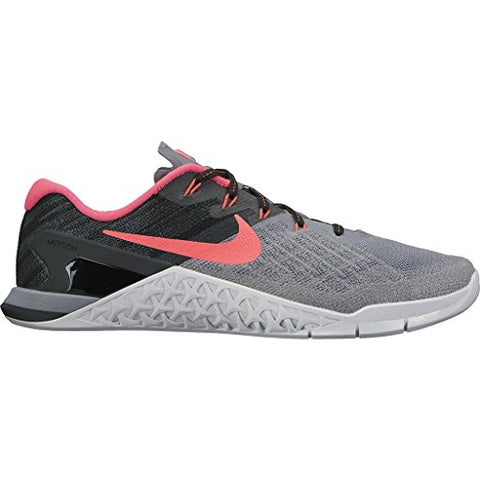 Nike Women's Metcon 3 Training Shoe COOL GREY/SOLAR RED-BLACK-PURE PLATINUM 7.0