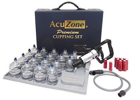 Premium Cupping Set w/ 19 Cups, 10 Acu-pressure pointers INCLUDED