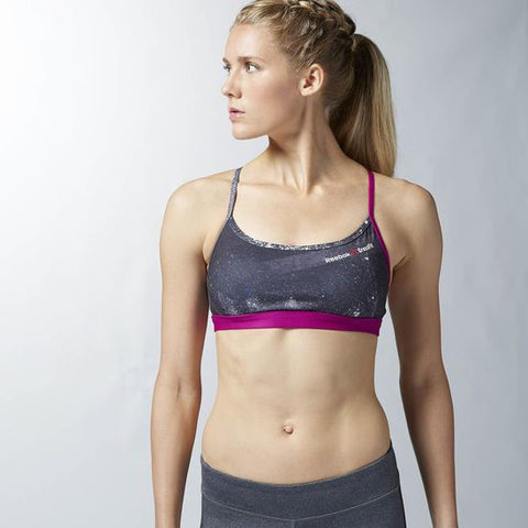 Reebok FRONT RACK BRA PURPLE