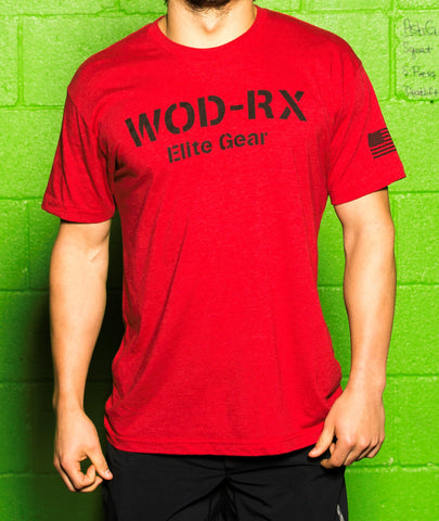 "WOD-RX  ""Classic"" Red T-Shirt"