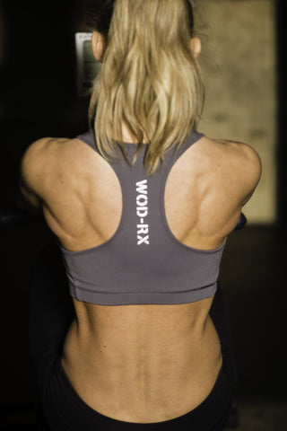 WOD-RX (W) SPORTS BRA ALLOY