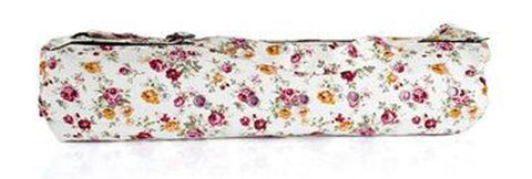 Cotton Canvas Yoga Mat Bag, Bright Flowers