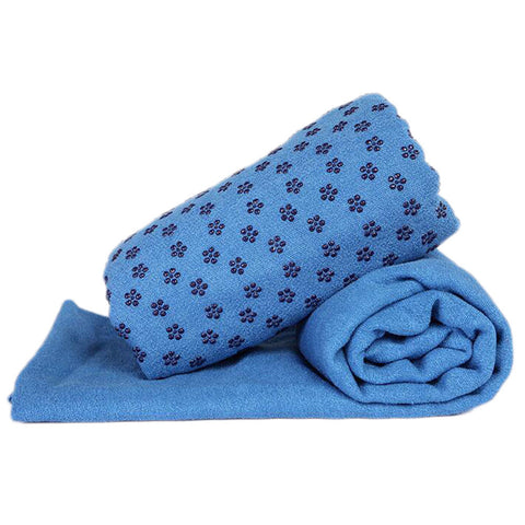 Non-slip Yoga Sheet/Blanket/Towel 183 cm x 63 cm-Blue