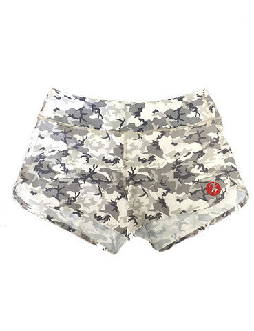 COMPETE EVERY DAY WOMENS SPRINT (WINTER OPS) CAMO SHORTS