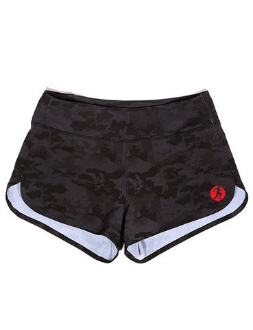 COMPETE EVERY DAY WOMENS SPRINT (BLACK OPS) CAMO SHORTS