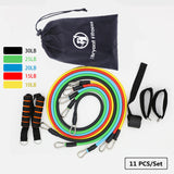 11-Piece Elastic Resistance Band Set