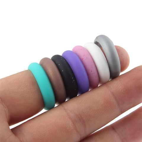 Women's Silicone Rings, 7-Pack