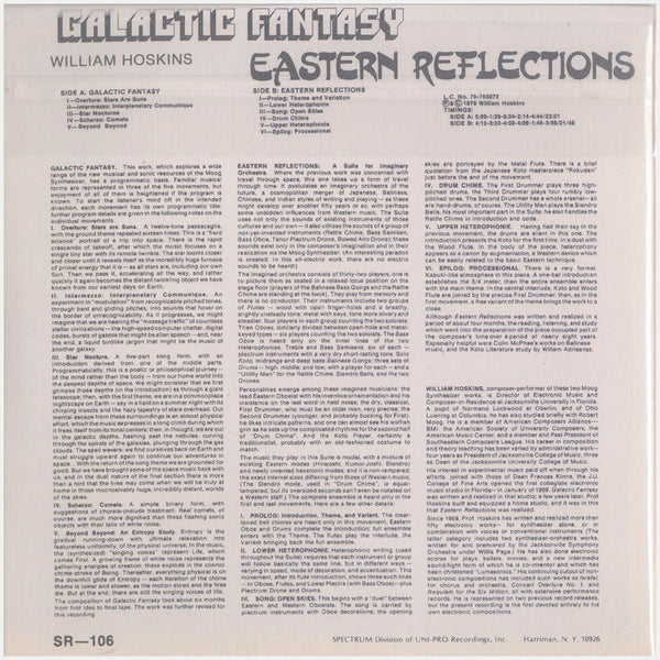 William Hoskins; Galactic Fantasy, Eastern Reflections