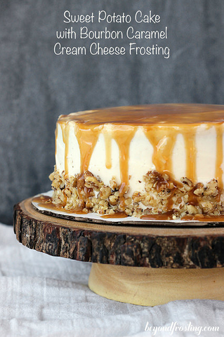 Sweet Potato Cake with Bourbon Frosting by Beyond Frosting
