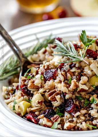 Cranberry Apple Pecan Pilaf by Carlsbad Cravings