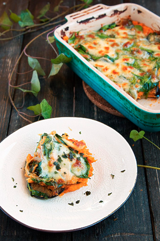 Sweet Potato Vegetarian Lasagna by Eat Plants Now