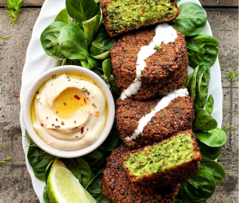 Magical Green Falafels Recipe by Full of Plants