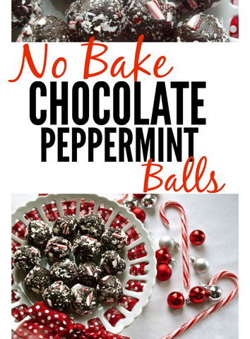 No Bake Chocolate Peppermint Balls Recipe by Happy Healthy Momma