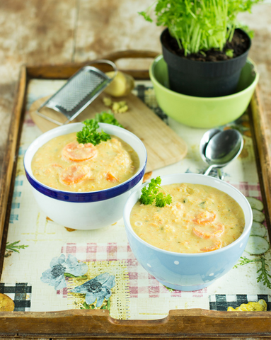 Lean Kohlrabi Carrot Soup Recipe by Hurry the Food Up