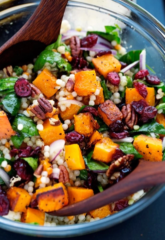 Autumn Pearl Couscous Salad with Butternut Squash by Little Spice Jar