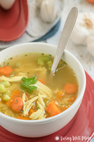 Healing Paleo Chicken Soup Recipe by Living Well Mom
