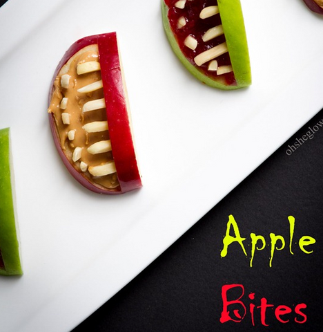 3-Ingredient Halloween Apple Bites by Oh She Glows
