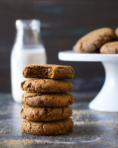Big & Chewy Paleo Gingerbread Cookies Recipe by Paleo Running Momma