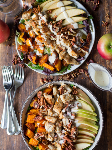 PALEO BUTTERNUT APPLE CHICKEN SALAD W/CREAMY MAPLE DRESSING by Paleo Running Momma