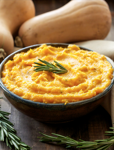 MASHED BUTTERNUT SQUASH WITH GOAT CHEESE AND ROSEMARY by Recipe Runner