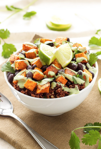Sweet Potato and Black Bean Quinoa Bowl by A Spoonful of Flavor