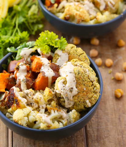 Baked Falafel Buddha Bowl Recipe by The Healthy Maven
