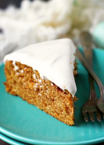 Carrot Cake with Cream Cheese Frosting Recipe by The Pretty Bee