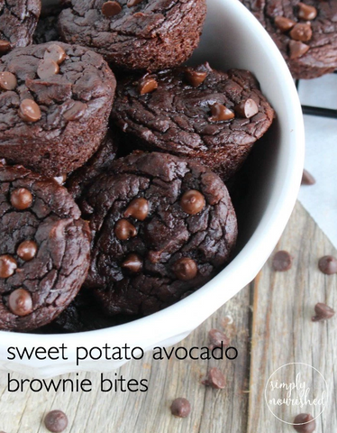 Avocado Sweet Potato Brownie Bites (Grain-free) Recipe by The Real Food Dieticians