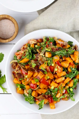 Warm Chipotle Lime Sweet Potato Salad Recipe by The Real Food Dieticians
