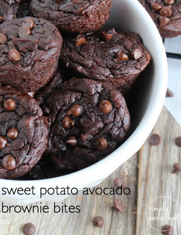 Sweet Potato Avocado Brownie Bites Recipe by The Real Food Dietitians