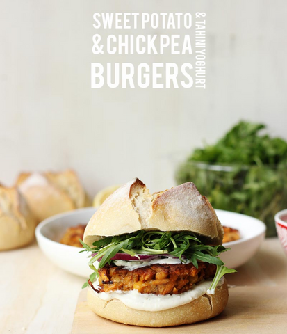 Sweet Potato & Chickpea Burger Recipe by The Sugar Hit