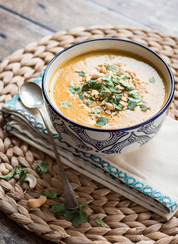 Vegan Indian Sweet Potato Soup Recipe by The Wanderlust Kitchen