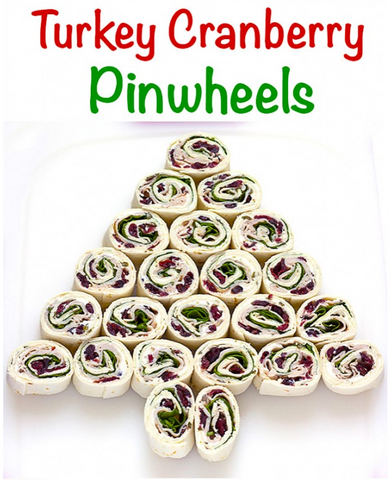 Turkey Cranberry Pinwheels Recipe by The Wholesome Dish