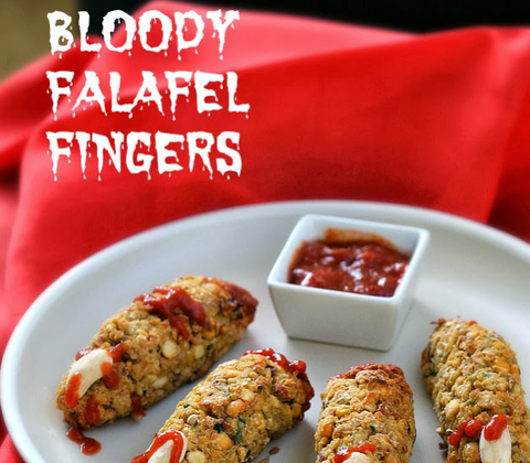 BLOODY FALAFEL FINGERS FOR HALLOWEEN by Vegan Richa
