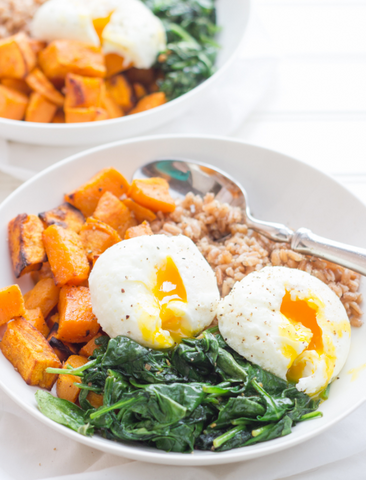 Curried Sweet Potato Breakfast Bowls by Wholefully
