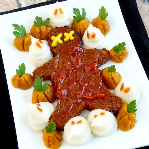 MASHED POTATO GHOSTS OF HALLOWEEGANS PRESENT AND PAST by Wing It Vegan